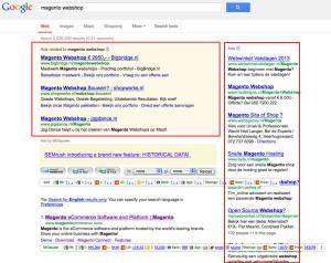 google adwords in de zoekresultaten