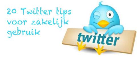 20 Twitter tips voor zakelijk gebruik