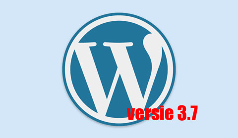 WordPress 3.7 is uit!