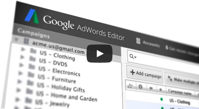 google adwords editor screenshot