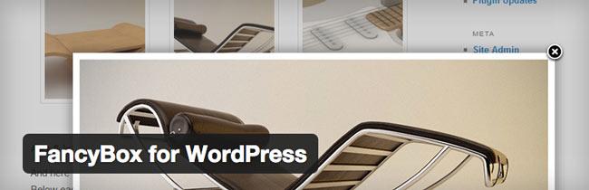 wordpress plugin fancybox