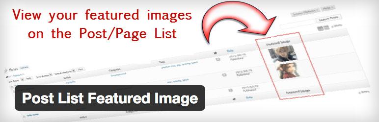 wordpress plugin post list featured image