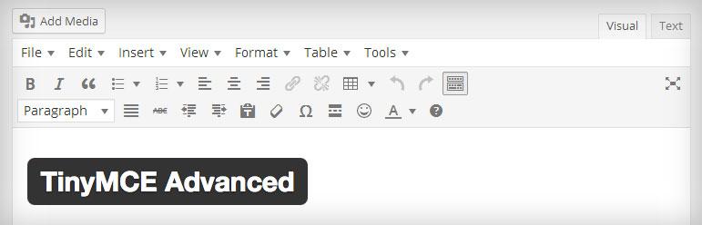 wordpress plugin tinymce advanced