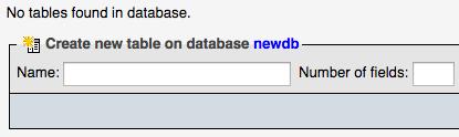 phpmyadmin databas aanmaken