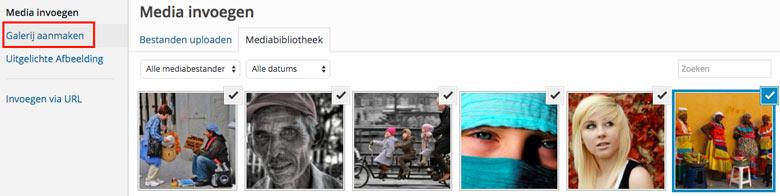 WordPress fotoalbum afbeeldingen toevoegen