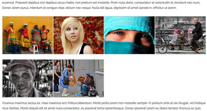 WordPress fotoalbum met thumbnails size medium