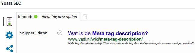 meta tag description yoast