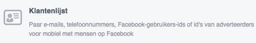 facebook doelgroep klantenlijst