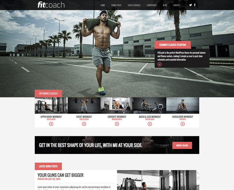 wordpress theme fit coach