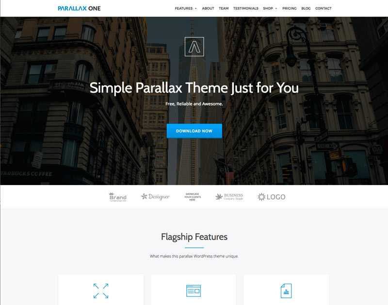 wordpress theme parallax one