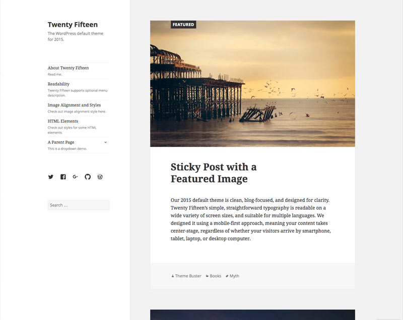 wordpress theme twenty fifteen