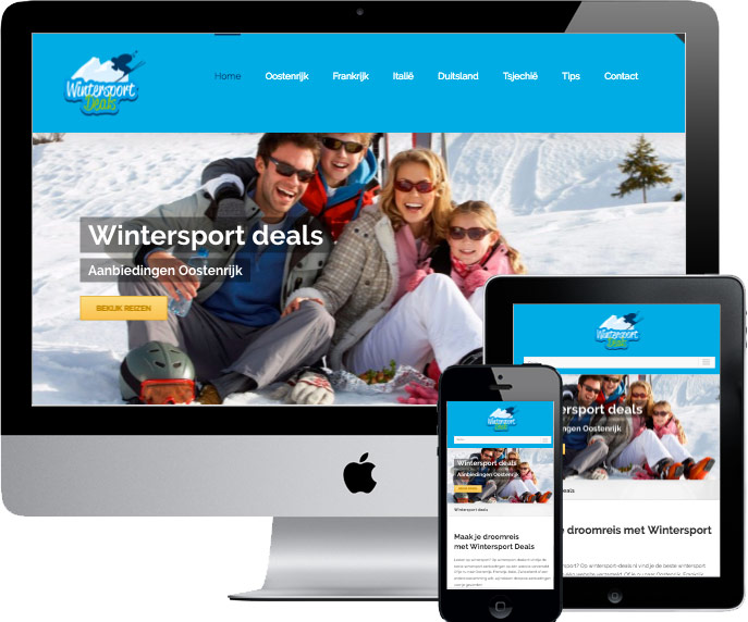 wordpress website wintersport deals