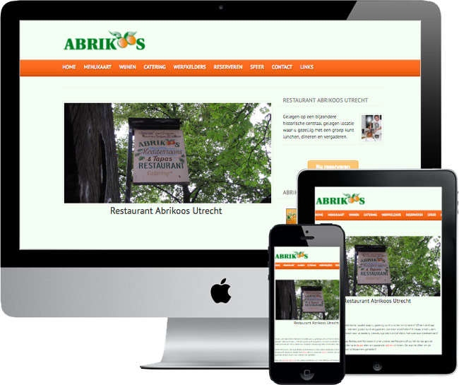 wordpress website voor restaurant abrikoos utrecht