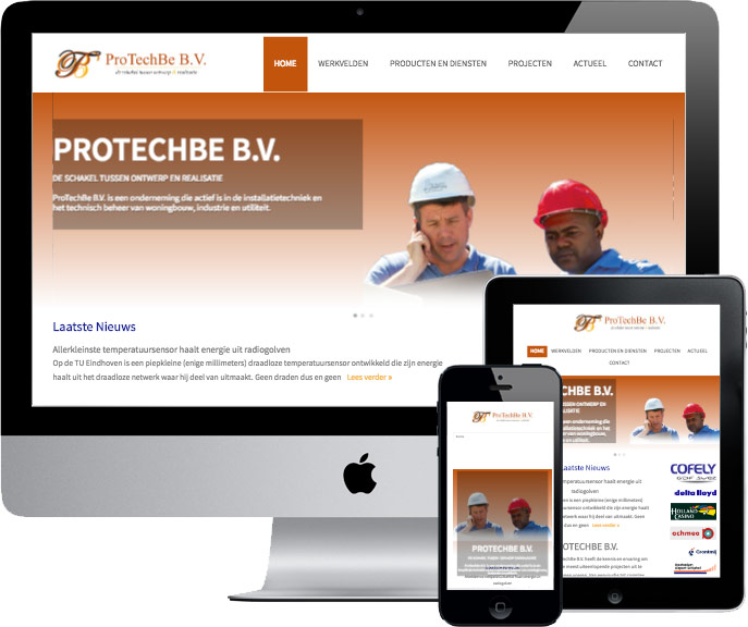 wordpress website protechbe.nl