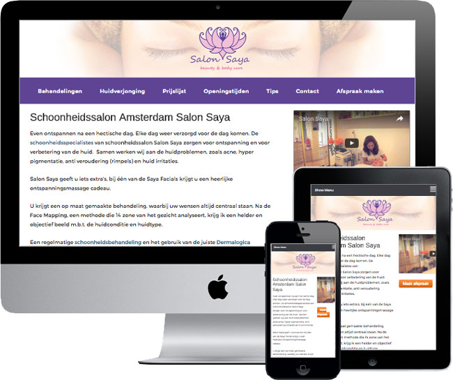 responsive wordpress website voorbeeld