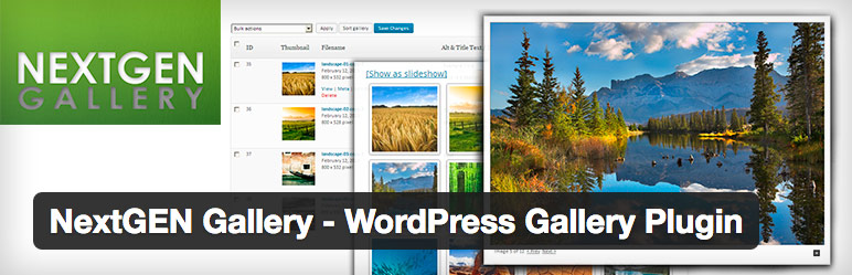 wordpress plugin nextgen gallery