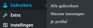 wordpress gebruiker aanpassen