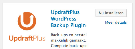 wordpress plugin updraftplus