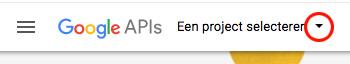 google api nieuw project