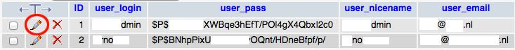 wordpress tabel wp_users