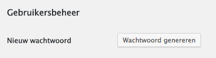 wordpress wachtwoord genereren