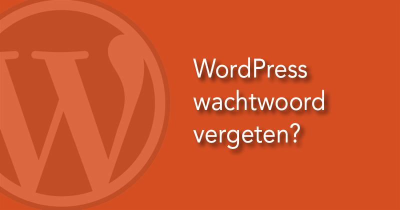 WordPress wachtwoord vergeten