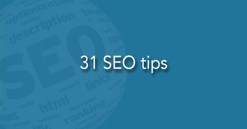 31 SEO tips