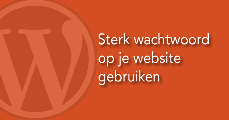 Sterk wachtwoord op je website gebruiken