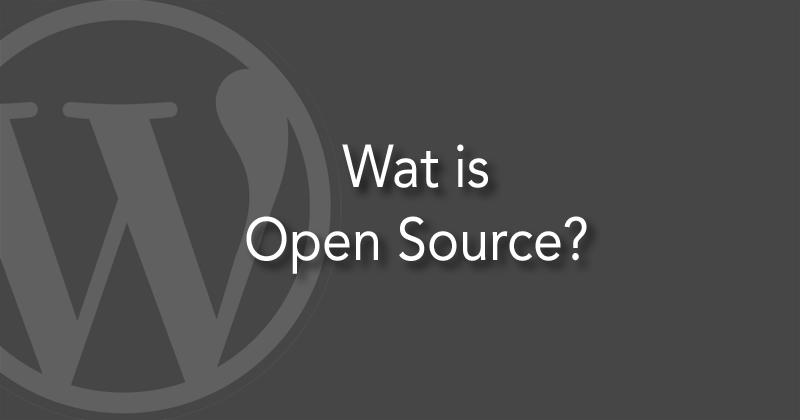 Wat is open source?