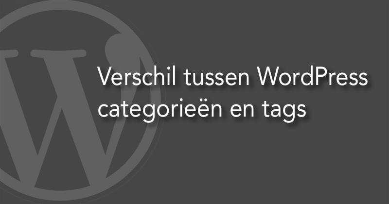 Het verschil tussen WordPress categorieën en tags