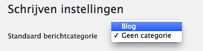 WordPress standaard categorie aanpassen