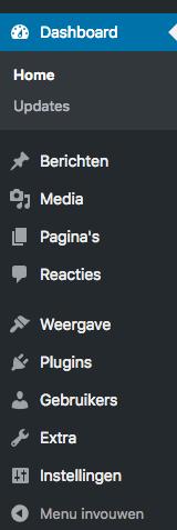 wordpress dashboard sidebar