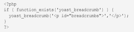 yoast seo breadcrumbs code